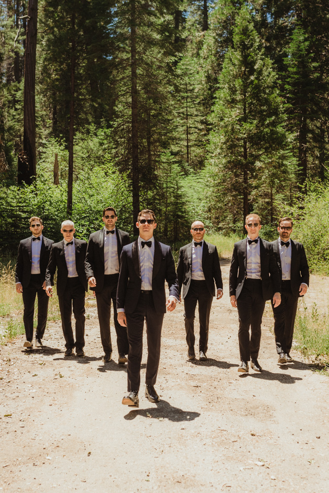 Rush Creek Lodge Wedding, photo of groom inspired by james bond
