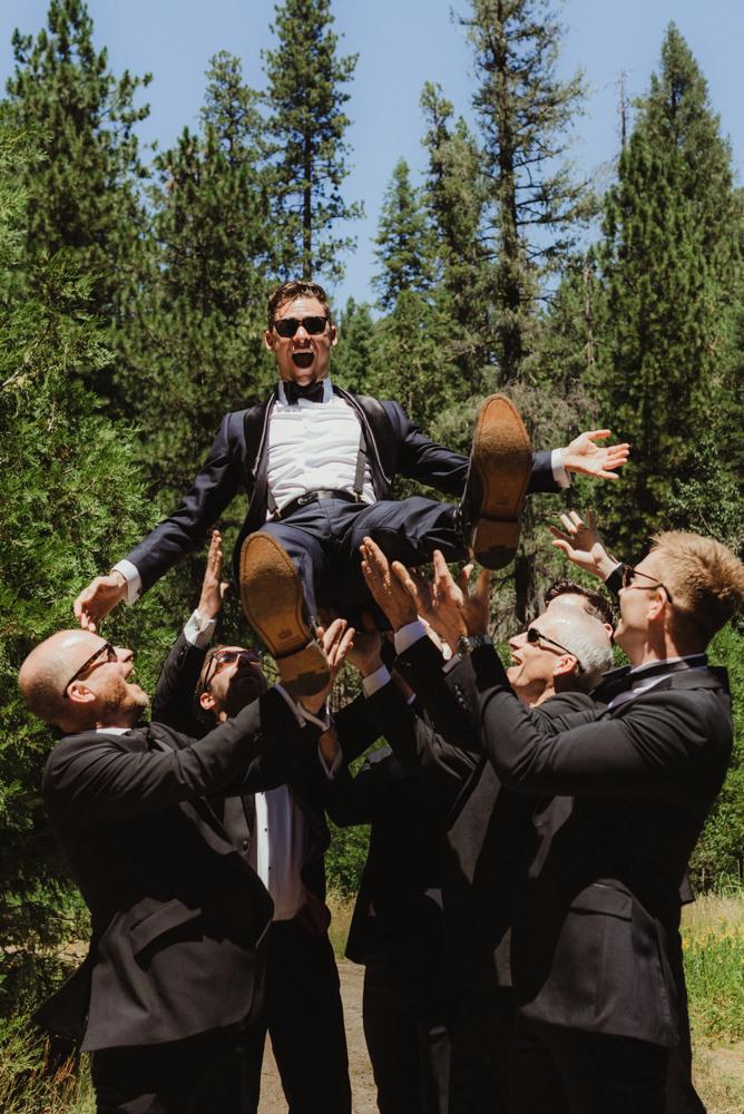 Rush Creek Lodge Wedding, photo of groom with his boys