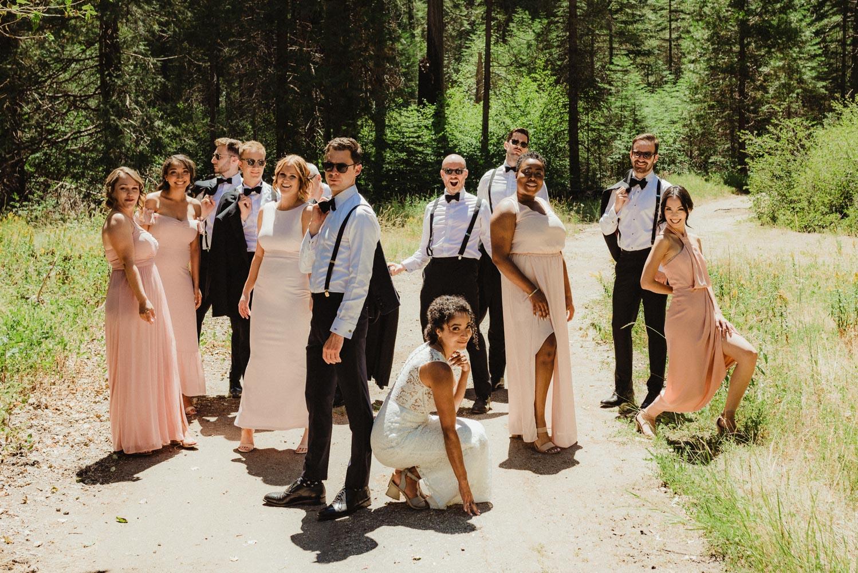 Rush Creek Lodge Wedding, photo of bridal party