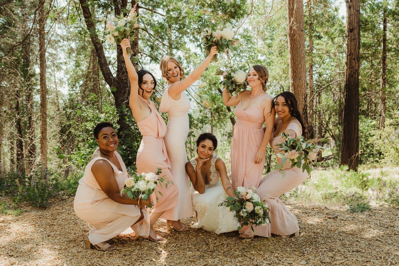 Rush Creek Lodge Wedding, photo of bridesmaids having fun