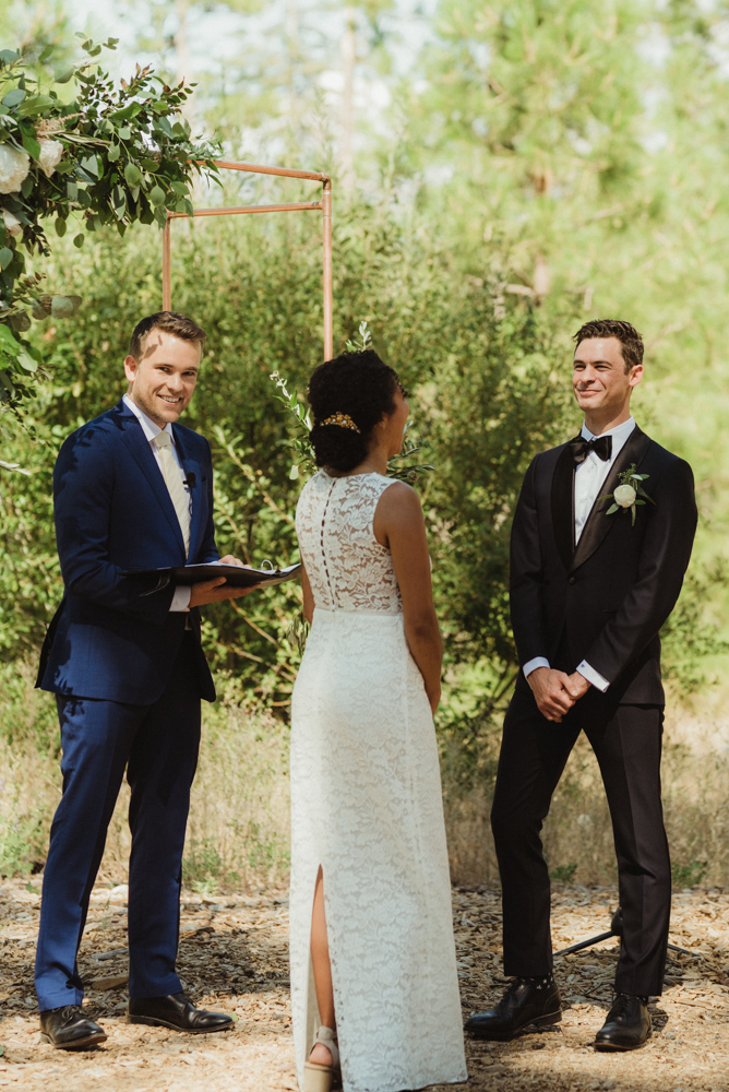 Rush Creek Lodge Wedding, photo of couple during their ceremony