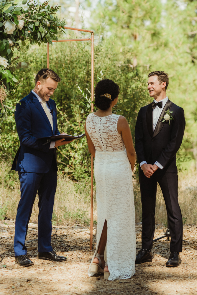 Rush Creek Lodge Wedding, photo of couple at the ceremony