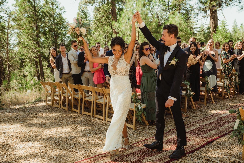 Rush Creek Lodge Wedding, photo of couple walking down the aisle