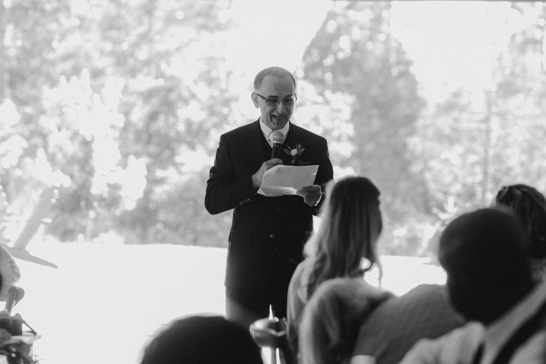 Rush Creek Lodge Wedding, dad giving his speech photo