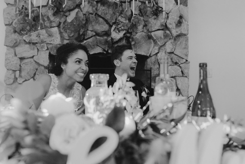 Rush Creek Lodge Wedding, couple laughing photo