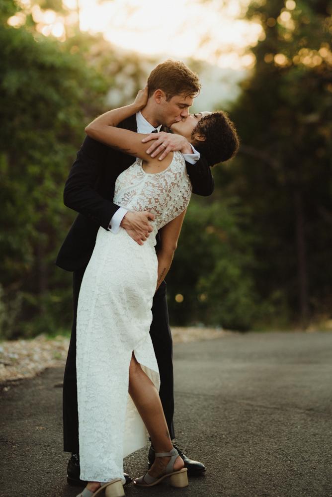 Rush Creek Lodge wedding, couple sunset photos