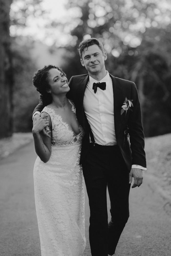 Rush Creek Lodge wedding, couple walking together photo