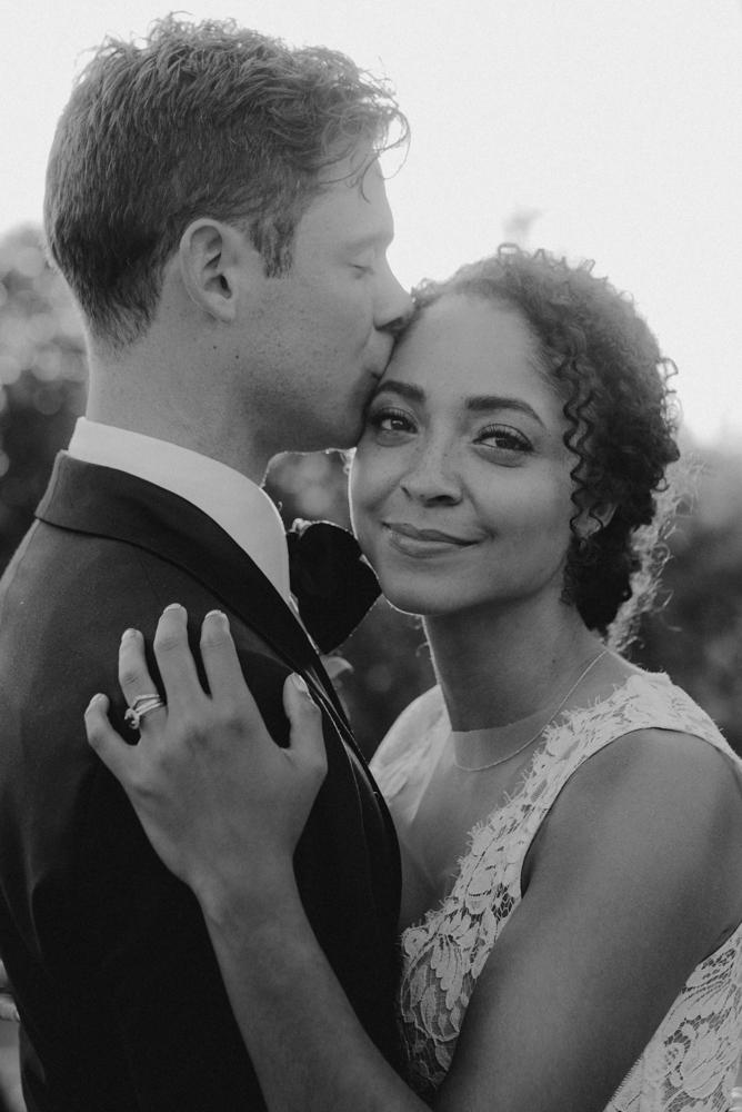 Rush Creek Lodge wedding, couple of bride looking at the camera