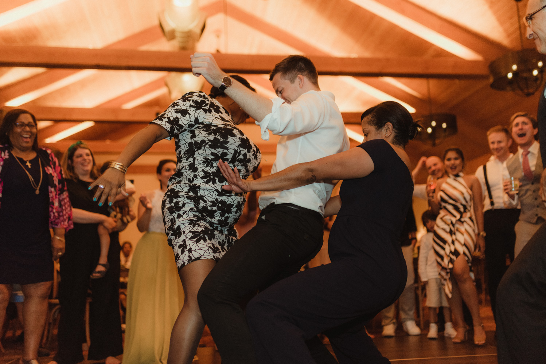Rush Creek Lodge wedding, dance party photo