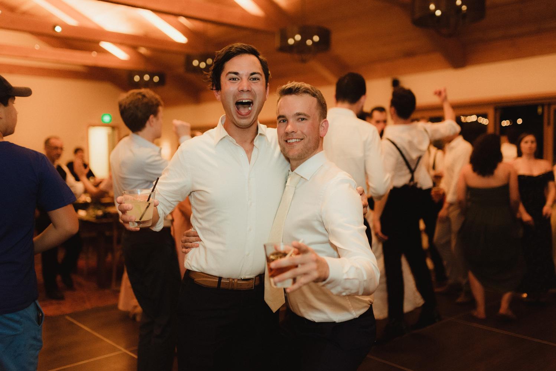 Rush Creek Lodge wedding, friends having fun photo