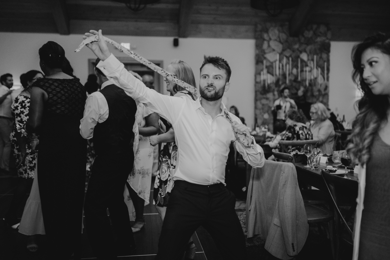 Rush Creek Lodge wedding, bow ties coming off photo