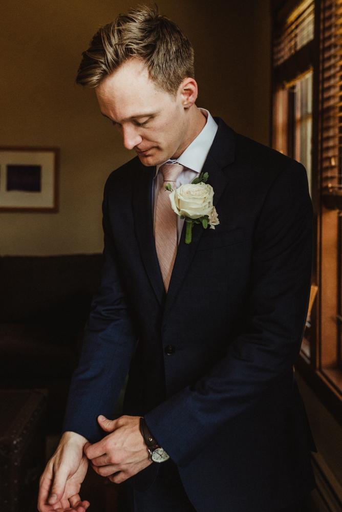 Hellman-Erman Mansion Wedding, photo of groom getting ready
