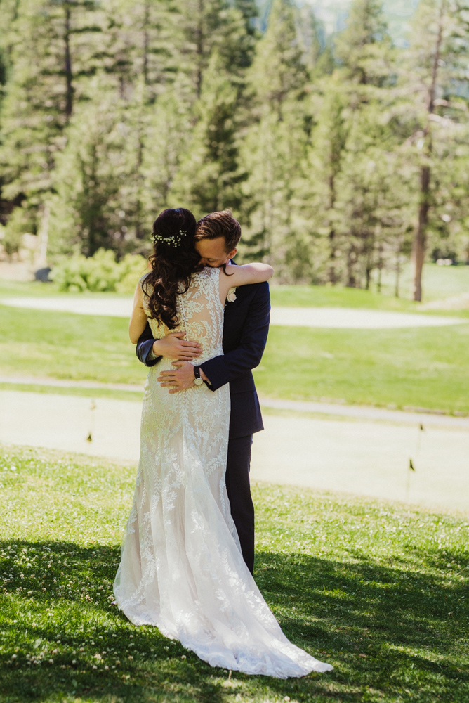 Hellman-Erman Mansion Wedding, photo of couple hugging after their first look