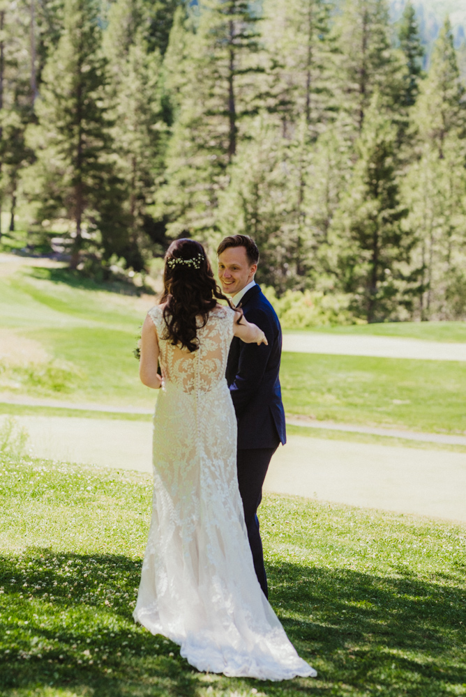 Hellman-Erman Mansion Wedding, photo of their first look