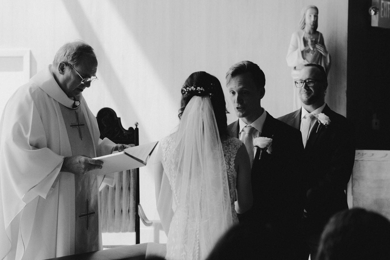 Hellman-Erman Mansion Wedding, photo of groom saying his vows photo