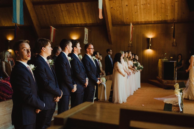 Hellman-Erman Mansion Wedding, photo of groomsmen in the church