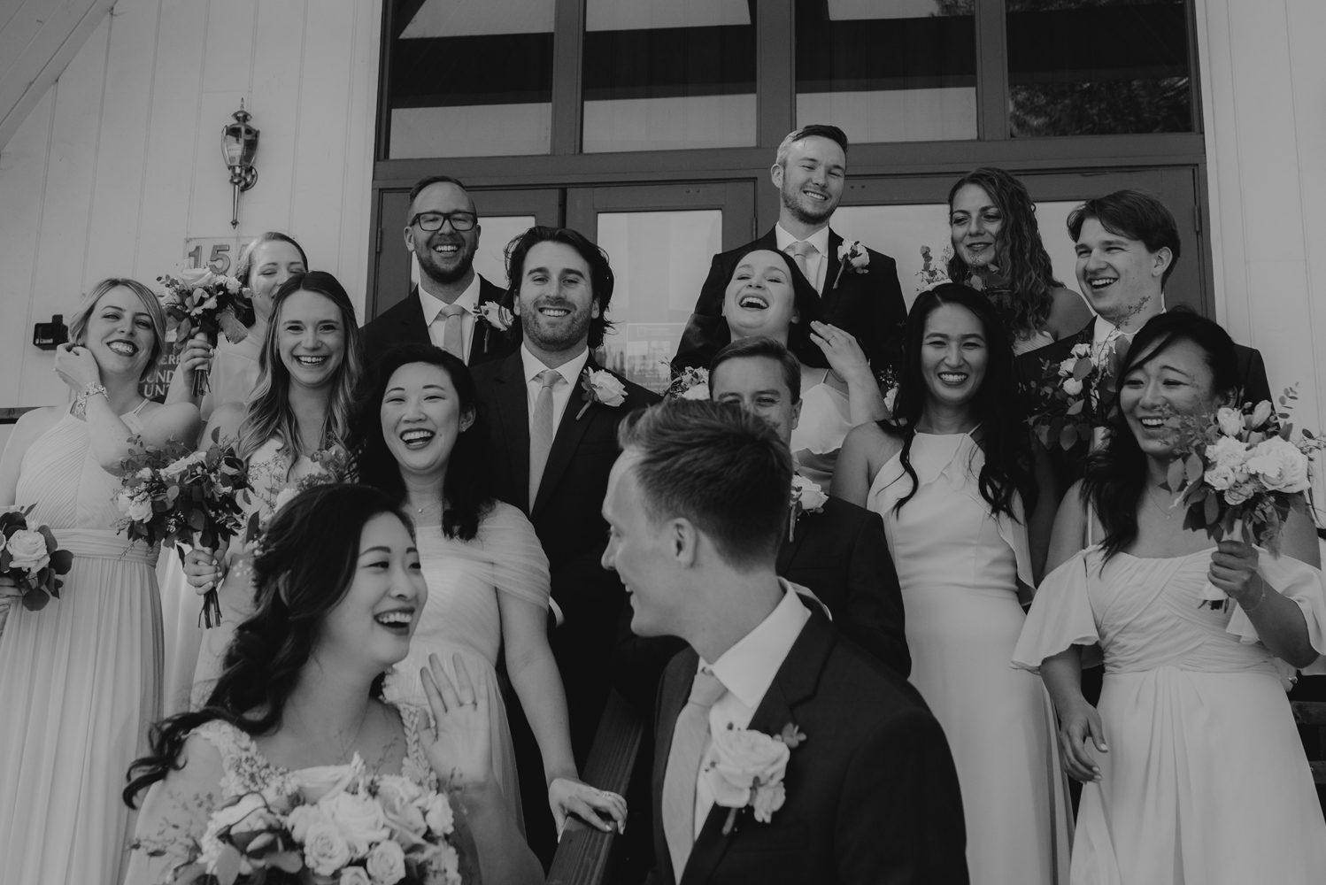 Hellman-Erman Mansion Wedding, photo of couple and bridal party