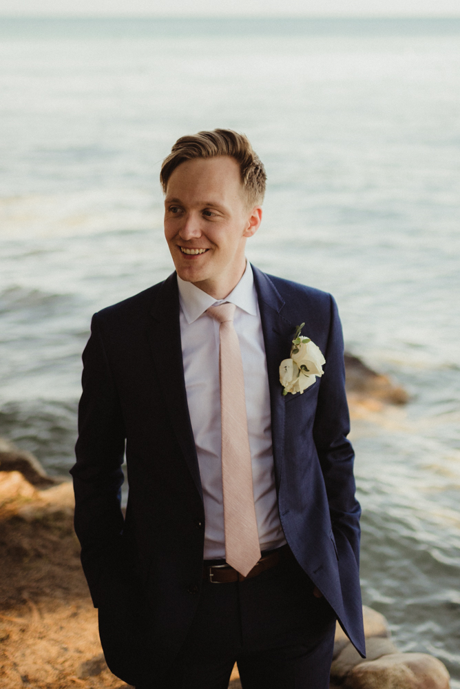 Hellman-Erman Mansion Wedding, photo of groom smiling