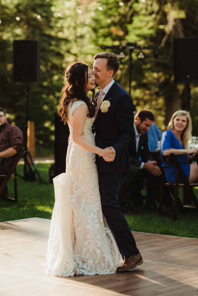 Hellman-Erman Mansion Wedding, photo of  couple during their first dance