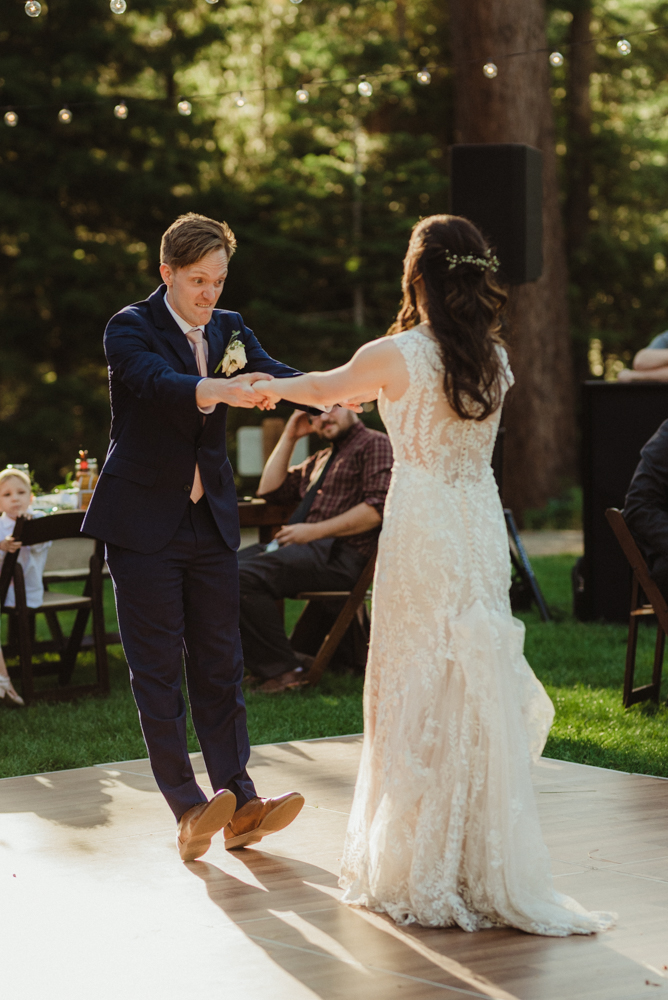Hellman-Erman Mansion Wedding, photo of groom during the first dance