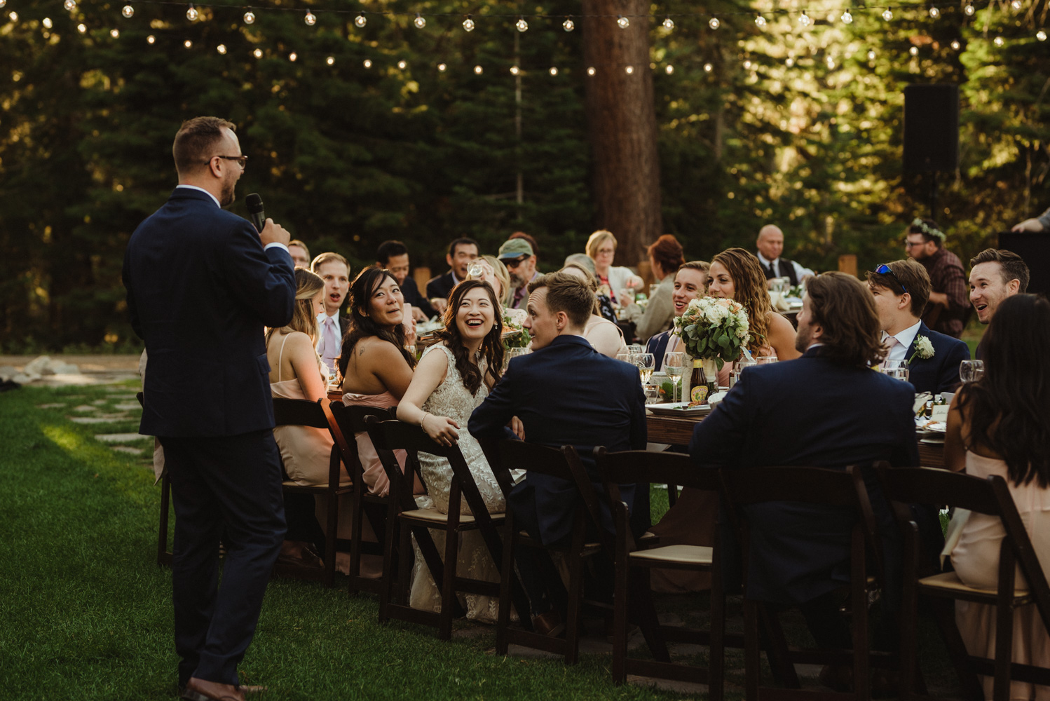 Hellman-Erman Mansion Wedding, photo of couple during their toasts