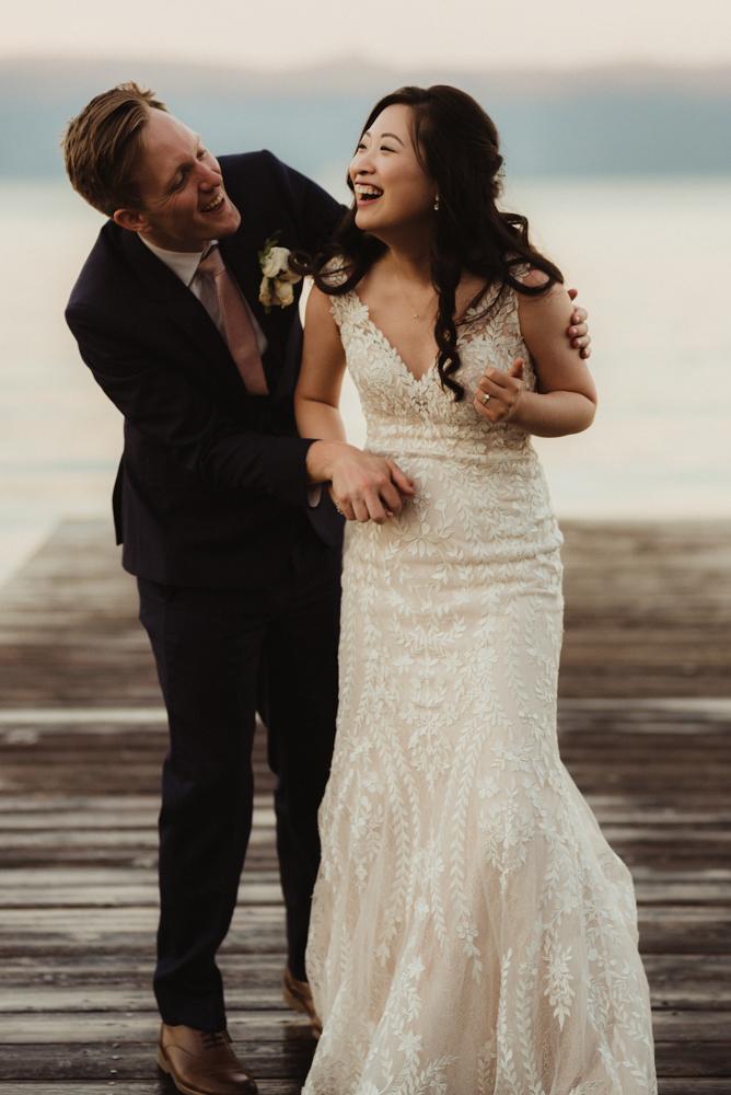 Hellman-Erman Mansion Wedding, photo of couple playing around