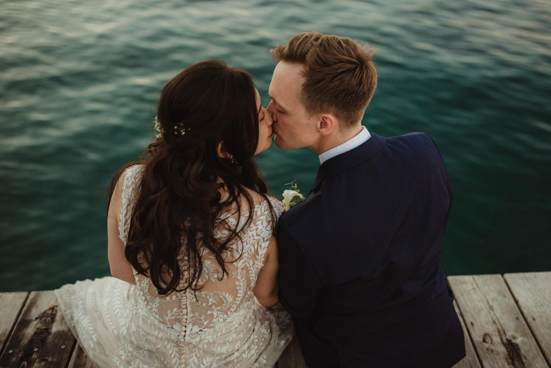Hellman-Erman Mansion Wedding, photo of couple kissing