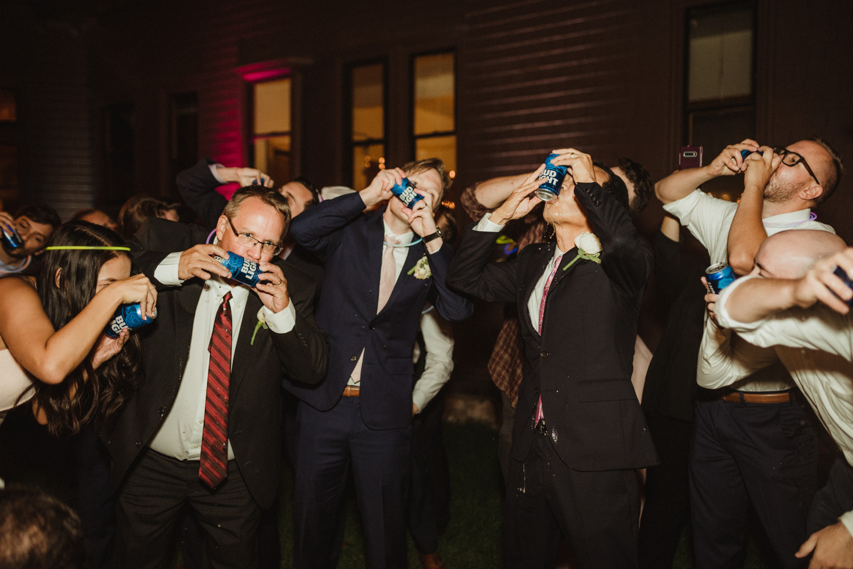Hellman-Erman Mansion Wedding, photo of everyone drinking