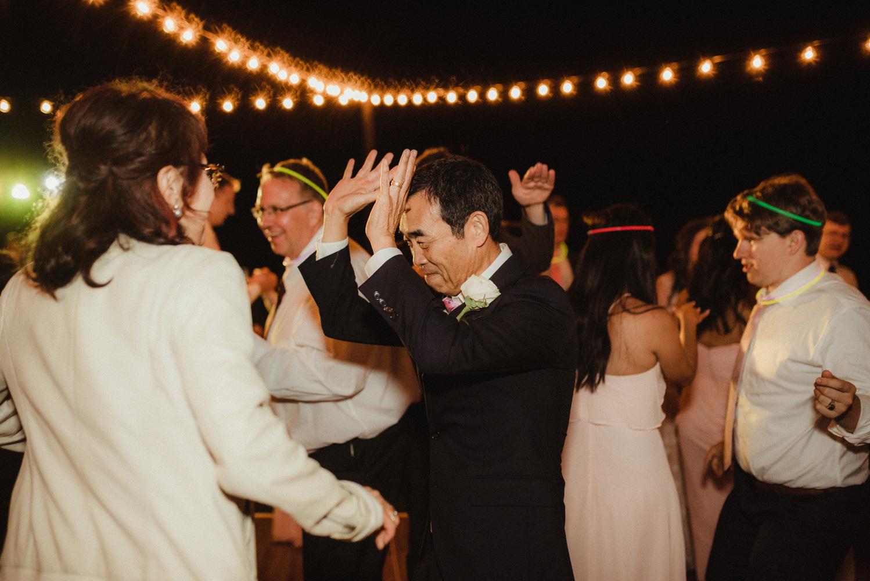 Hellman-Erman Mansion Wedding, photo of bride's dad dancing