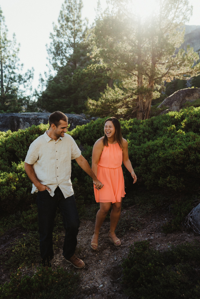 Lake Tahoe Wedding Photographer, photo of couple laughing and holding hands