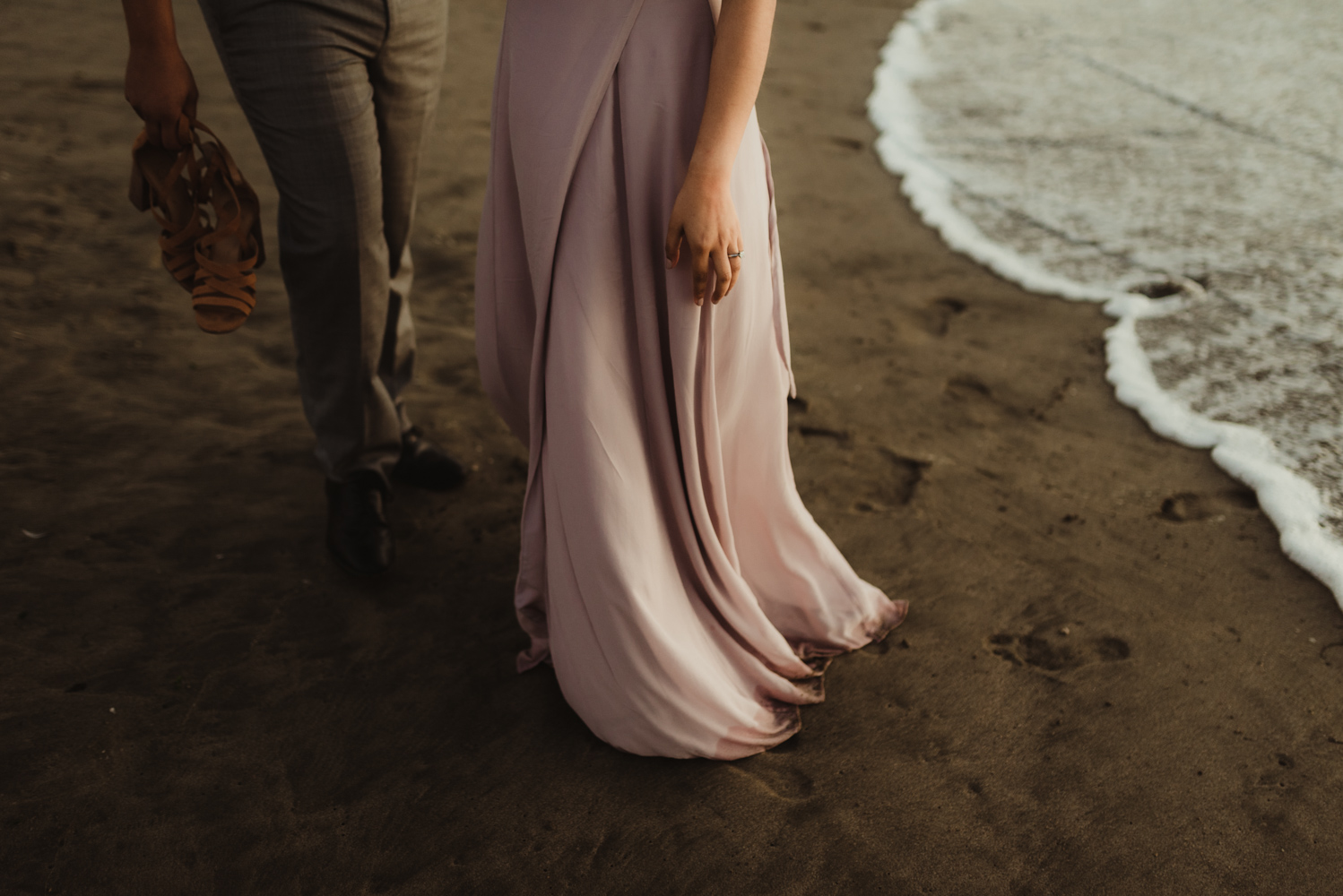 Sutro Baths Engagement Session, photo the bride to be's dress