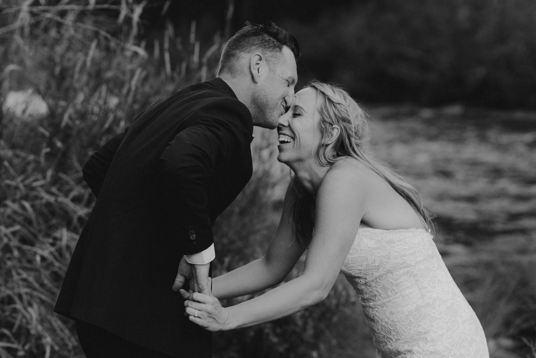 Twenty Mile House Wedding Photographer, photo fo couple laughing