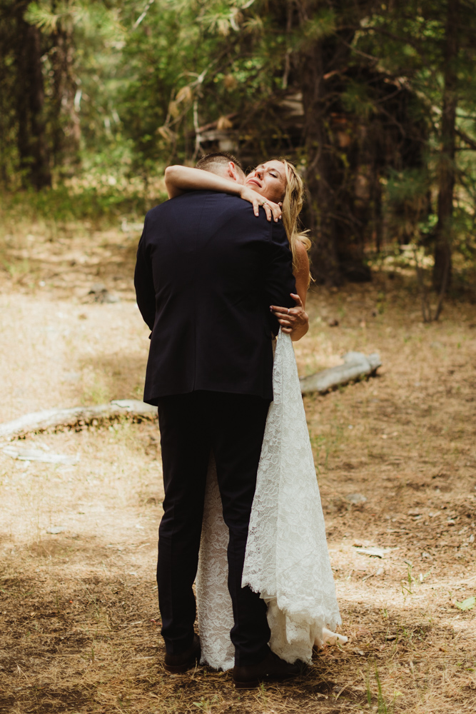 Twenty Mile House Wedding Photographer, brides reaction to a first look
