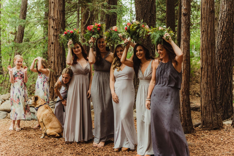 Twenty Mile House Wedding Photographer, rain during the ceremony photo