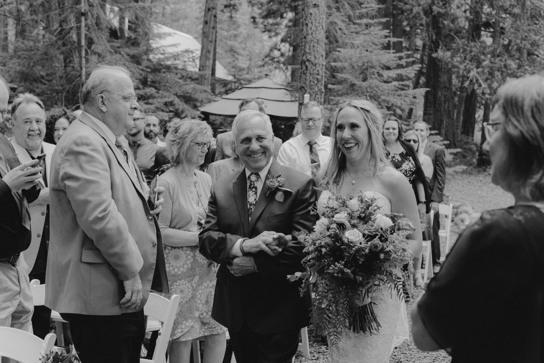 Twenty Mile House Wedding Photographer, bride and dad photo