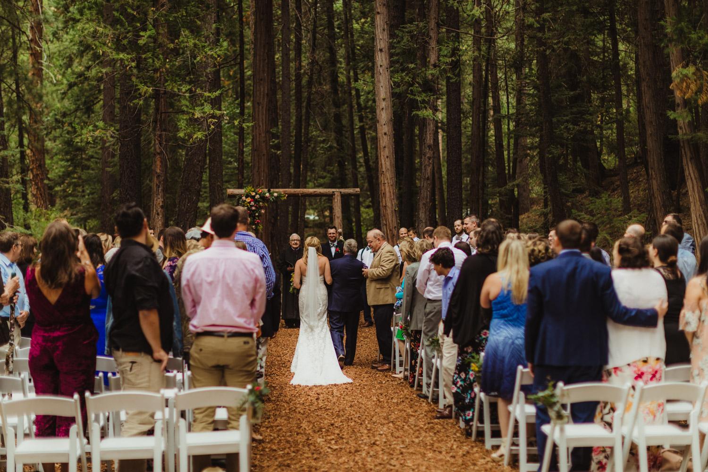 Twenty Mile House Wedding Photographer, wide angle shot of ceremony