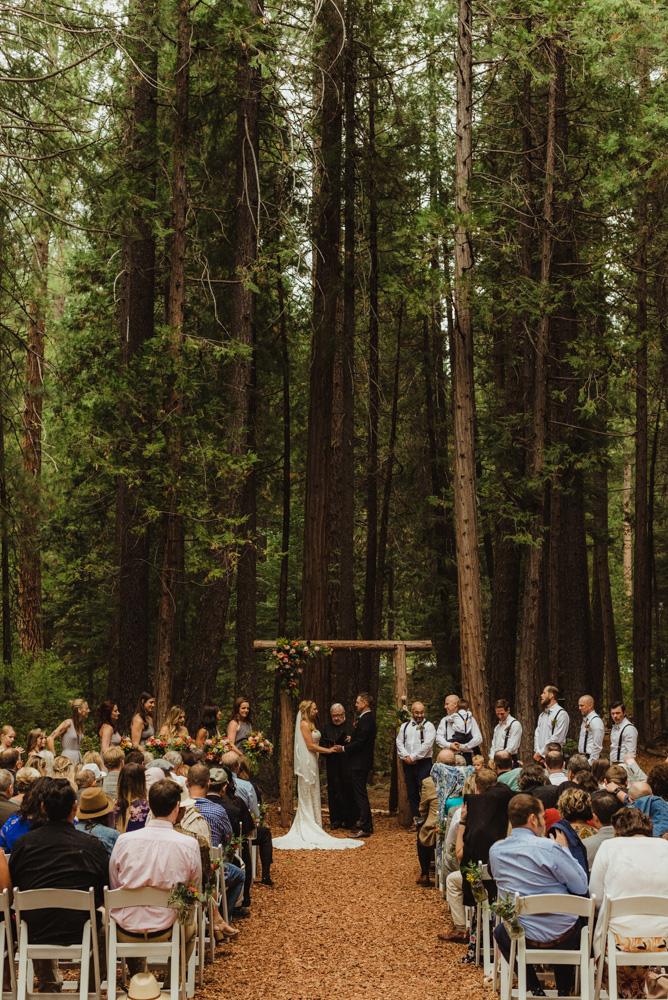 Twenty Mile House Wedding Photographer, wide angle shot of the ceremony spot