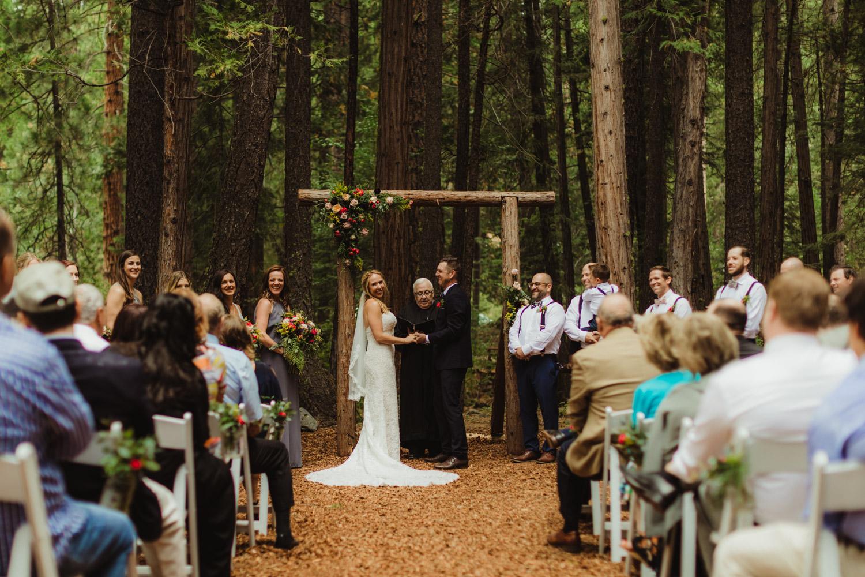 Twenty Mile House Wedding Photographer, wide angle shot of ceremony location at twenty mile house