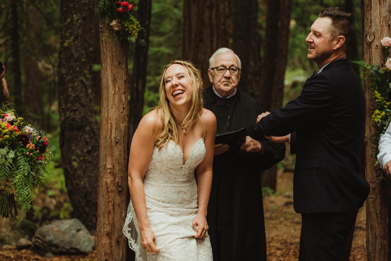 Twenty Mile House Wedding Photographer, bride being adorable