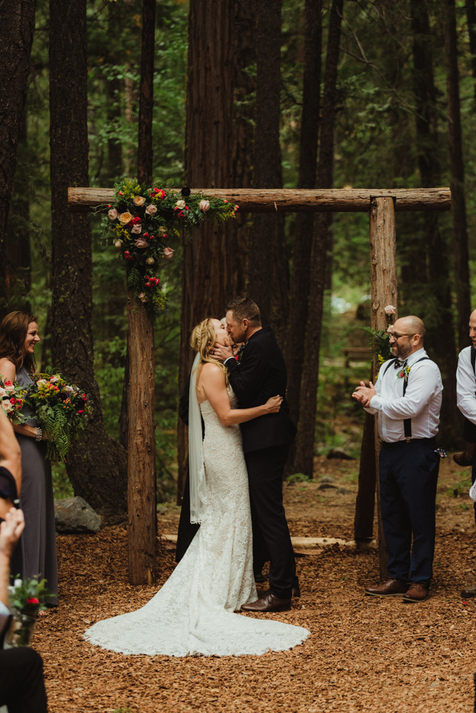 Twenty Mile House Wedding Photographer, first kiss photo