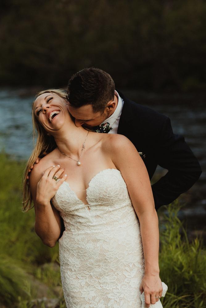 Twenty Mile House Wedding Photographer, couple cuddling photo