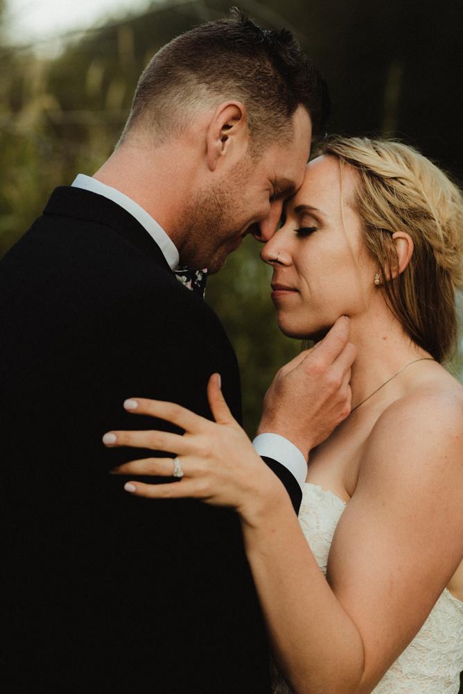 Twenty Mile House Wedding Photographer, close up photo of foreheads touching