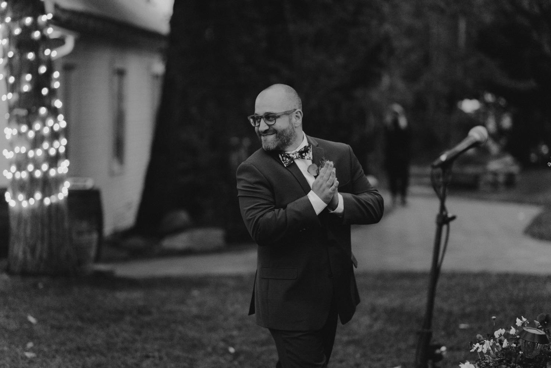 Twenty Mile House Wedding Photographer, best man giving his toast
