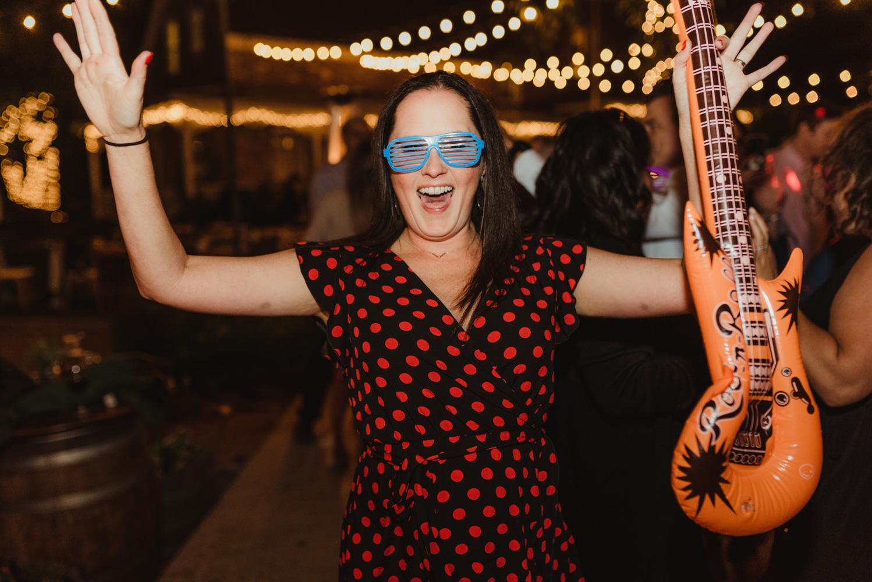 Twenty Mile House Wedding Photographer, photo of guest having a blast