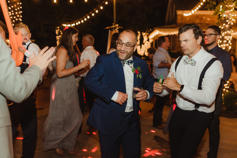 Twenty Mile House Wedding Photographer, photo of groom's best man dancing