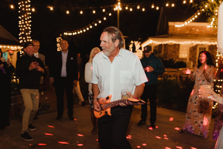 Twenty Mile House Wedding Photographer, photo of dad playing guitar