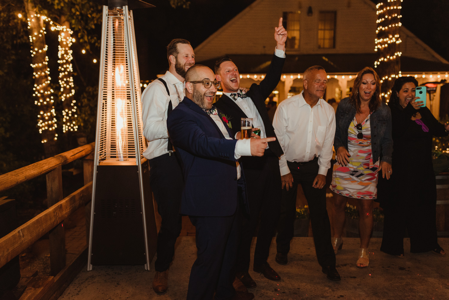 Twenty Mile House Wedding Photographer, photo of guests at the party