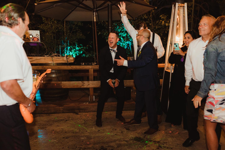 Twenty Mile House Wedding Photographer, photo of groom dancing
