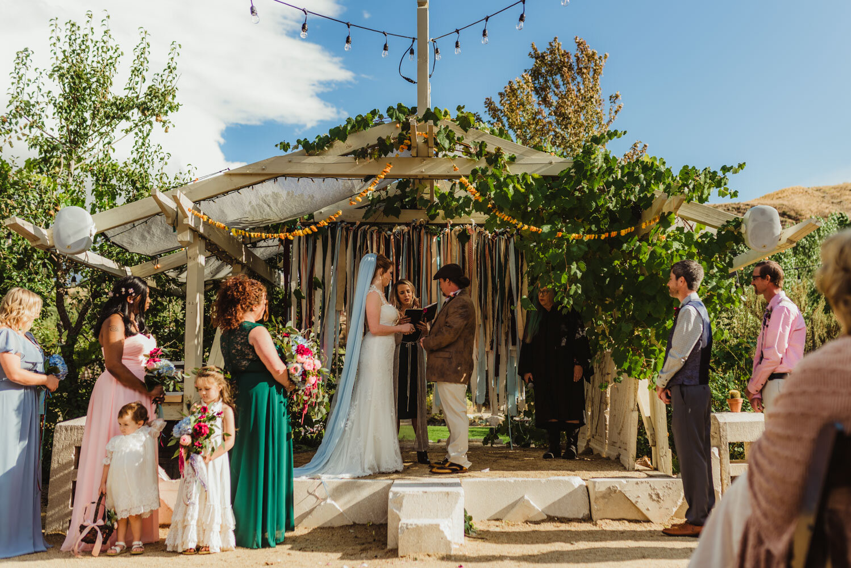 River School Farm Wedding, eclectic ceremony photo