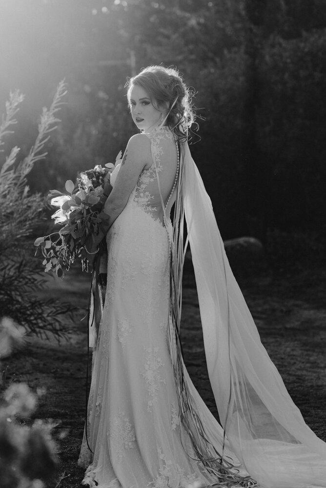River School Farm Wedding, portrait of bride